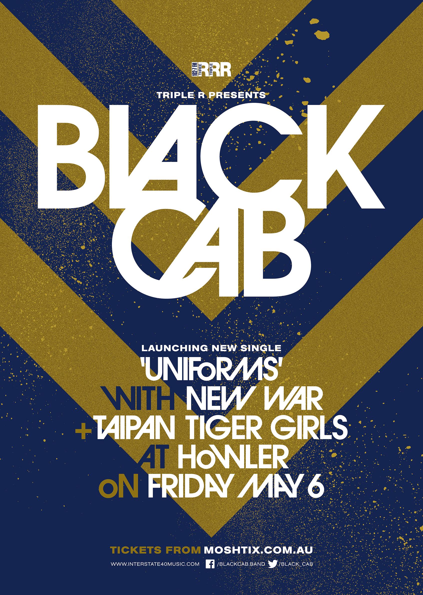 BLACK CAB poster Melb FB